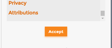 利用規約の承認ボタン